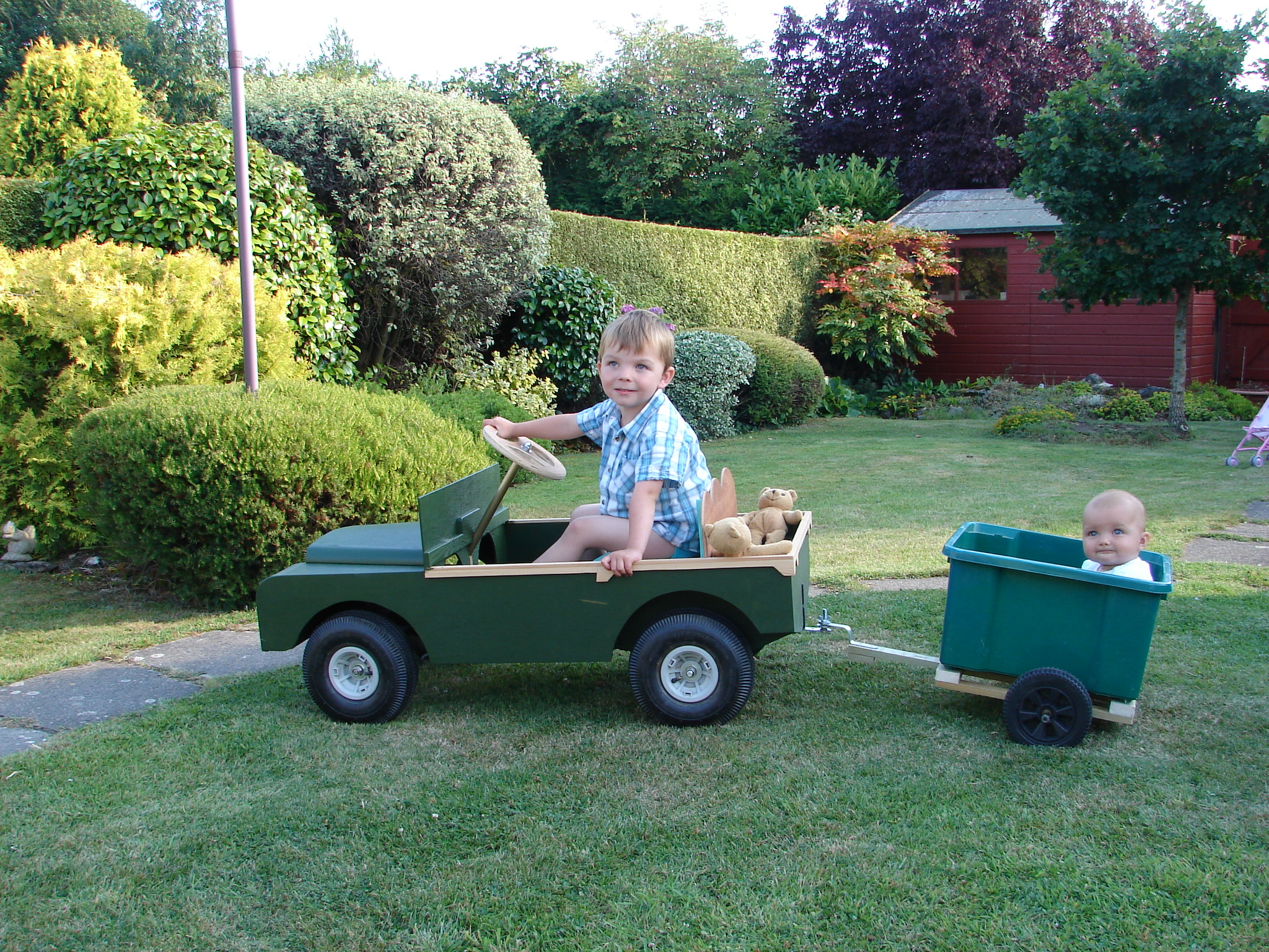 Build it yourself adult pedal car
